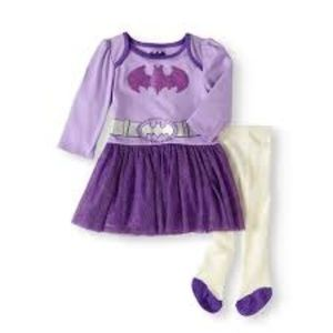 NWT Bat Girl Two Piece Outfit 0/3 Months